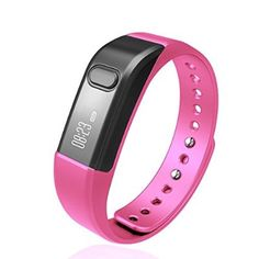 Fitness Tracker Smart Bracelet, Vcall Waterproof Bluetooth Smart Band Wristband Activity Tracker with Sports Pedometer Health Tracker and Sleep Monitor - Pink