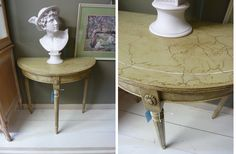 Chalk Paint TM decorative paint by Annie Sloan, painted with Versailles at www.facebook.com/helstonfurniture
