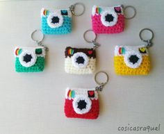 Crochet instagram keychain