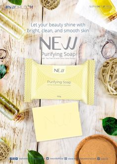 Let your beauty shine with bright, clean and smooth skin from New Purifying Soap Pimple Marks, Acne Marks, Nlighten Products, Acne Blemishes, Beauty Soap, Even Skin Tone, Best Anti Aging, Tea Tree Oil, Skin Problems