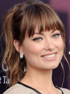 Bangs Hairstyles&Haircuts 2018 for Women.How to opt for the proper bang hairstyles for face shape? Long face: Long straight bangs can facilitate slender long face oval. hierarchic and superimposed bangs also are appropriate for this type. don't take short bangs, as they're a visually a lot of elongated faces.