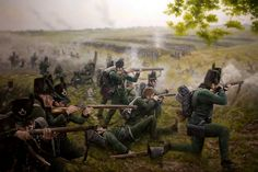 95th Rifles at Waterloo- by Ferre Clauzel