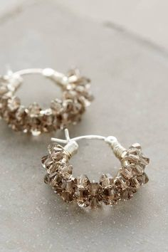 Crystal Spiral Mini Hoops