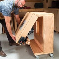 Mobile Router Center This rolling router center has onboard storage for all your router components, folds into a tidy package, serves as an extra work surface and rolls out of the way when you're done! By George Vondriska Use It! Click any image to view a larger version. Move It! Store It! Unfold It! Organize It! A router table is one of the most versatile tools you can …