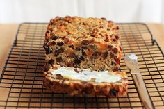 This delicious fruit loaf is egg free, dairy free AND sugar free! Great for toddler snacks and baking for allergies.
