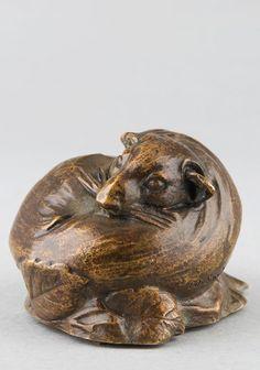 SANDOZ Edouard-Marcel, Loir. Sculpture en bronze du 20e siècle