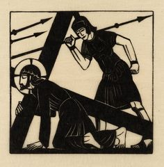 Eric Gill, 'Jesus Falls the First Time' 1917