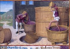 Jean Poyet, Heures d'Henry VIII, The Labours of the Months, September, vers 1500, The Pierpont Morgan Library