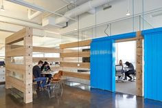 This design provides moderate privacy without feeling confined.  office design | Tumblr #officedesign