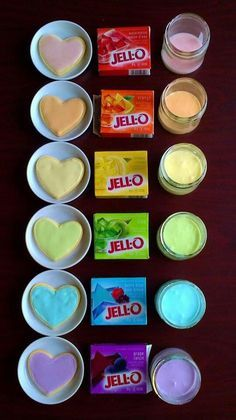 Jell-o frosting 1 3oz pkg jell-o 2/3C sugar 1 egg white 1t vanilla 1/2 C boiling water. Place all ingredients except water in mixer with whipping attachment.  Mix on high while adding boiling water & continue to mix on high for 5 min. (Cover bowl with towel to prevent flying jello) Voila!
