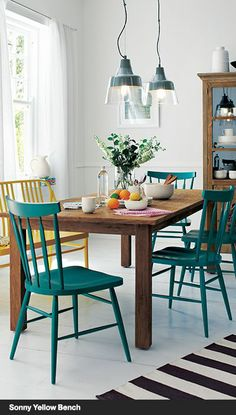 Seasonably Warm | Crate and Barrel- love this country kitchen