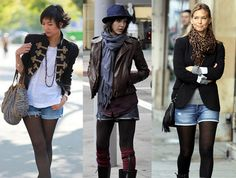 Just because fall is coming doesn't mean you have to retire your shorts! Check out how to rock shorts and tights! #Humbercollege #backtoschool #style