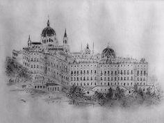 Vista desde Edificio España, uno de mis primeros dibujos de Madrid  #onselz