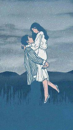 Cute Couple Drawings, Cute Couple Art, Anime Love Couple, Love Drawings, Art Drawings, Couple Pics, Couple Illustration, Character Illustration, Digital Illustration