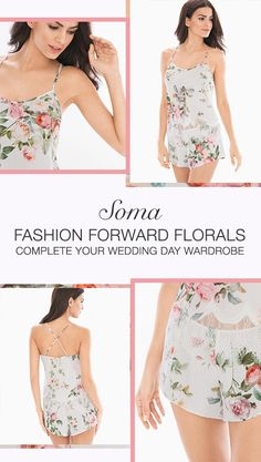 Gift yourself (or a beloved bride-to-be) flowers that will last. Soma is home to flattering floral fantasies perfect for that first night or packed away for your honeymoon. Discover Soma.com, your style-savvy BFF for all wedding-worthy lingerie and travel essentials for a honeymoon to remember.