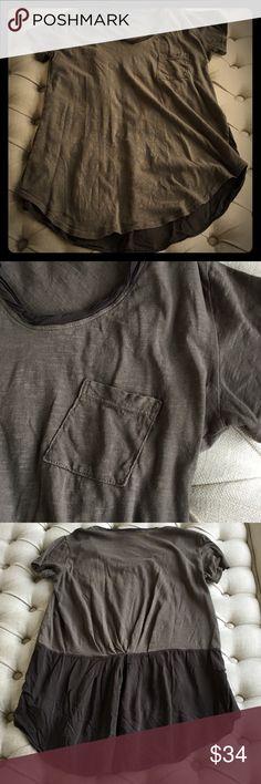 Spotted while shopping on Poshmark: Anthropologie Gray T-Shirt! #poshmark #fashion #shopping #style #Anthropologie #Tops
