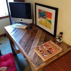 Awesome Scrap Pallet Desk #officefurniture #palletdesk #pallettable…