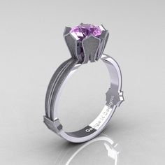 Classic Armenian 14K White Gold 1.0 Ct Lilac by artmasters on Etsy