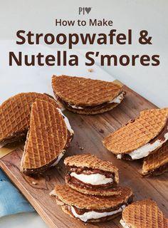 Caramel Waffle Cookies, Caramel Waffles, Nutella Waffles, Dutch Desserts, Köstliche Desserts, Delicious Desserts, Dessert Recipes, Nutella Recipes, Cookie Recipes