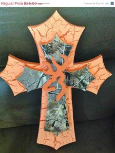 25 OFF SALE Camo Browning Themed Cross by TheCrossedCupcake, $18.75