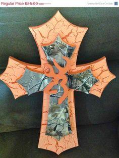 25 OFF SALE Camo Browning Themed Cross