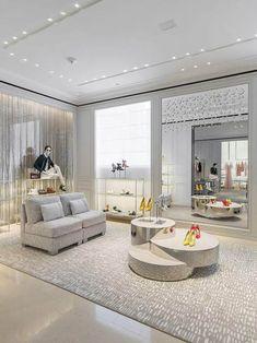 San francisco: dior store opening design интерьер б Boutique Interior, Shoe Boutique, Luxury Interior, Interior Design, Dior Store, Moda Peru, Shoe Store Design, Store Plan, Luxury Store