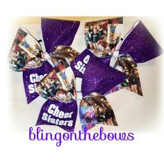 #photobows #cheerbows #cheersisters  Www.blingonthebows.com