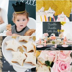 """""""Twinkle Twinkle Little Star"""" Inspired Birthday Party. Love this!!"""