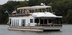 New Pontoon Houseboat For Sale - custom house boats!  Ahhh...the best of both worlds!  :O)