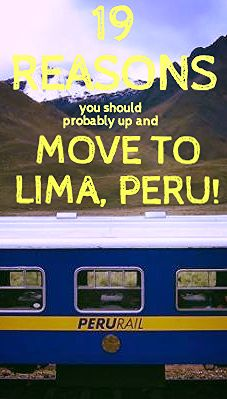 19 reasons you should probably up and move to Lima, Peru! Lima is an amazing city, and you need to know why! Click to read them all ➤ http://matadornetwork.com/trips/19-reasons-probably-move-lima-peru/
