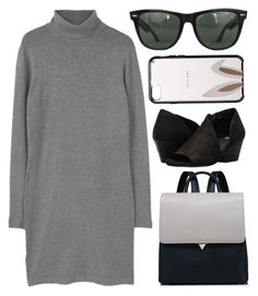 """""""When your Friends Ignore You..."""" by sweet-jolly-looks ❤ liked on Polyvore featuring MANGO, Eileen Fisher, Kate Spade, Ray-Ban, casual, backpacks and 2017"""