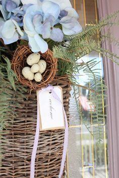 Beautiful front door welcome basket