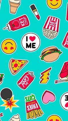 C est un fond d écran. Cute Food Wallpaper, Emoji Wallpaper, Wallpaper Iphone Cute, Love Wallpaper, Screen Wallpaper, Designer Wallpaper, Mobile Wallpaper, Pattern Wallpaper, Cute Wallpaper Backgrounds