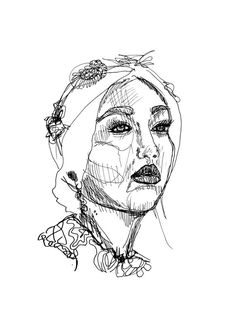 Fashion Illustration Portrait Drawing // by StaggIllustration