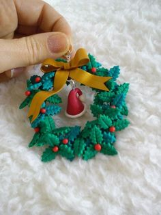 Clay Christmas Decorations, Polymer Clay Christmas, Christmas Ornament Crafts, Noel Christmas, Holiday Crafts, Polymer Clay Ornaments, Polymer Clay Canes, Polymer Clay Projects, Polymer Clay Creations