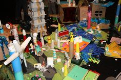 This is what families think Bristol should look like! Fantastic creative building with scrap from Bristol Children's Scrapstore at Arnolfini.