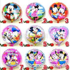 1pcs 18inch mickey minnie mouse print foil helium balloon @trendingtoystore.com