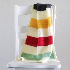 Crochet Hudson's Bay Baby Blanket - Daisy Farm Crafts Instagram