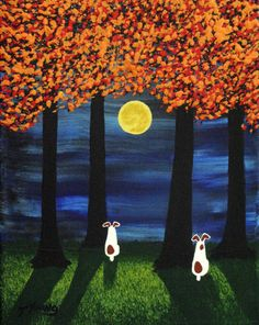 Jack Russell Terrier Dog original outsider folk art painting by Todd Young 8x10 or BEST OFFER. $99.00, via Etsy.