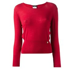 Chanel Red Long-sleeved Sweater
