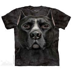 Black Pit Bull Sizes Small to 5XL $22.00-32.00 #PitBull  https://divinedogsonline.com/product/black-pit-bull-t-shirt/