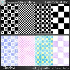 CU Patterned Templates - Checked! - $2.09 : Digital Scrapbooking Studio Digital Scrapbooking, Company Logo, Templates, Logos, Studio, Pattern, Stencils, Logo, Patterns