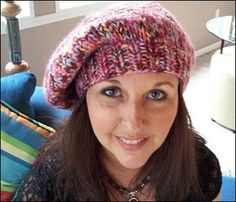 Super fast chunky yarn hand-knit beret