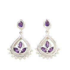 Himalayan Gems™ Pear-Shaped Gemstone Drop Earrings