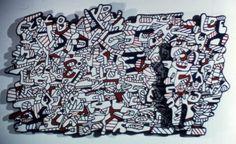 Jean Dubuffet - Untitled Dubuffet Dovecot Studio, Edinburgh, Scotland  Archie Brennan  A Gloria F. Ross Tapestry 1974 Tapestry weave 1 (unique) a: 44″ x 21″, b: 120″ x 72″