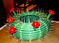 . . . . . How to Recycle: Old Water Garden Hoses