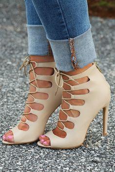 So Far So Good Heels: Cream #shophopes