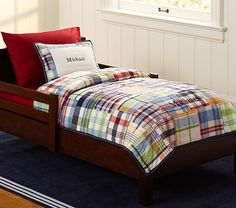 Madras Quilted Toddler Bedding | Pottery Barn Kids