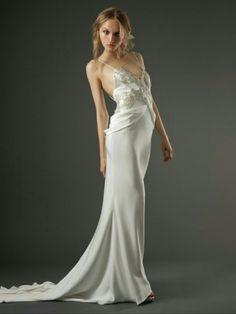 Elegant Sweep V-neck Mermaid Two Shoulder Straps Applique Satin with Coat Wedding Dress - take2