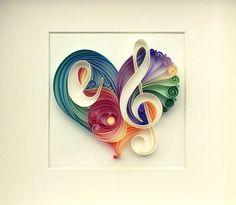 Hearts 'n Quilling by SenaRuna